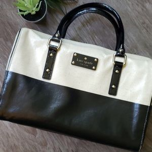 Kate Spade cream and black handbag